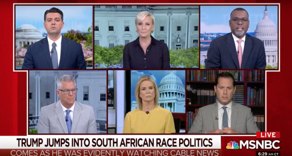 South Africa tweets show 'morally debased' Trump 'will do anything' to change the subject from Cohen: MSNBC panelist