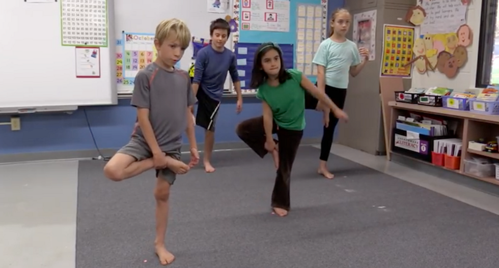 Does 'criss-cross apple sauce' make yoga secular? Opponents of yoga in public schools have a point