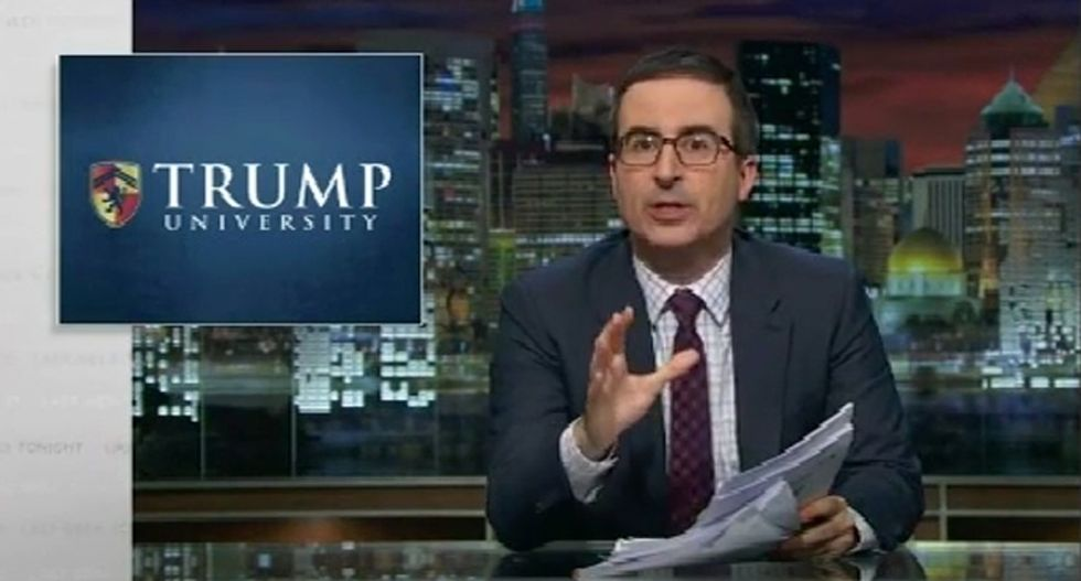 WATCH: John Oliver unloads on Donald Trump and his shady 'university' -- and it is epic