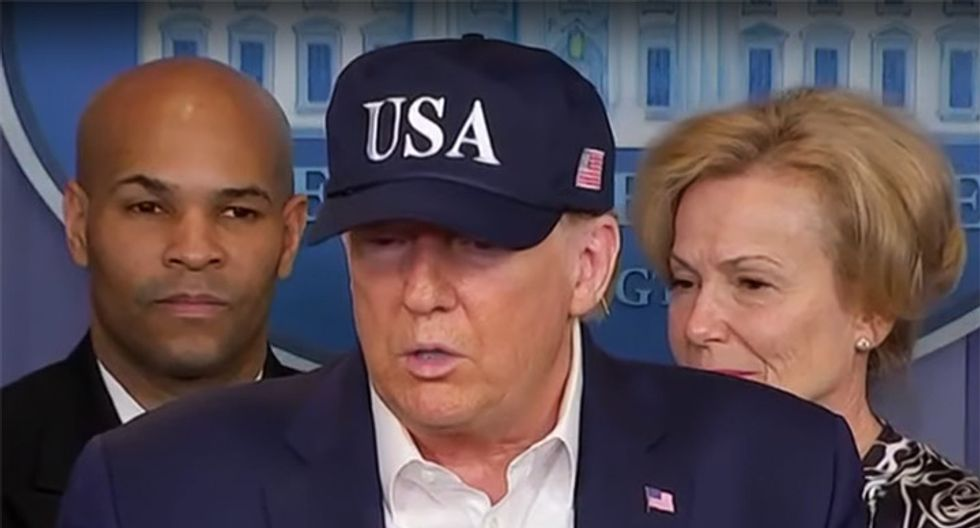Trump uses coronavirus press conference to threaten Fed head for not halting economic slide