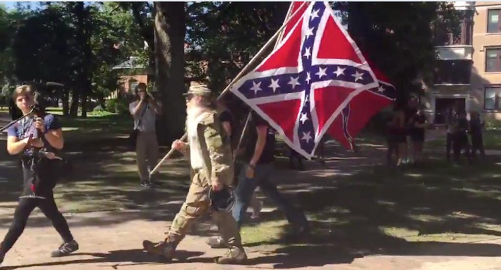 UNC cops arrest 7 at Silent Sam rally as anti-racist protestors clash with Confederates