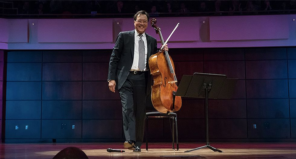 Famed cellist Yo Yo Ma performs internet concert in honor of healthcare workers