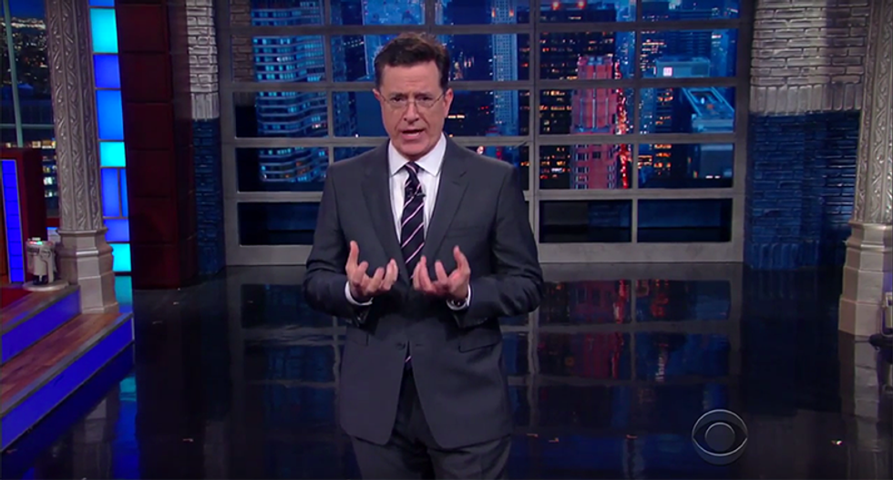 Colbert rips Giuliani's racism denial: 'Racists don't exist- they're like unicorns and his sense of shame'