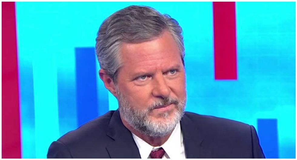 Internet stunned by now-deleted photo of Jerry Falwell Jr. with his pants unzipped