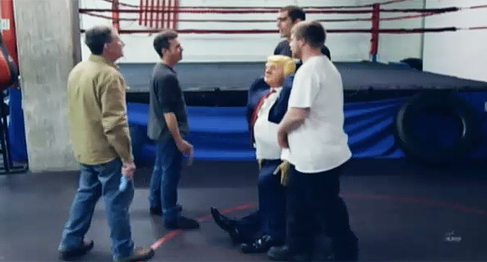 Watch what Sacha Baron Cohen gets these conservative internet trolls to do with a dummy of Donald Trump