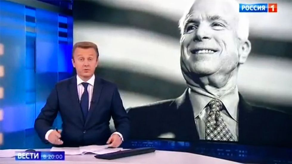 Kremlin-backed state media attacks McCain following his death: 'An implacable opponent of Russia'