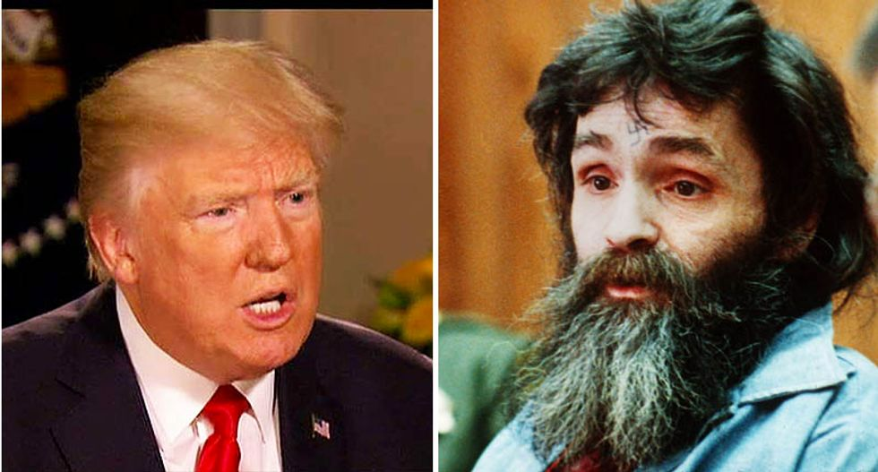 Social media offers Charles Manson and El Chapo as next partners for Trump's crack cyber security force