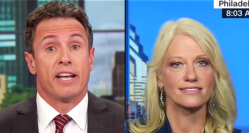 'Don Jr changed his story — period': CNN's Cuomo hammers Kellyanne Conway over Russia meeting