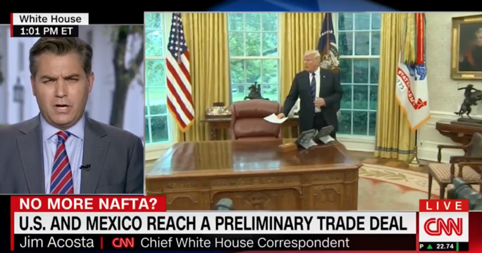 CNN's Jim Acosta blasts Trump for lying to his supporters: He has given up on his wall -- except 'as a campaign tool'