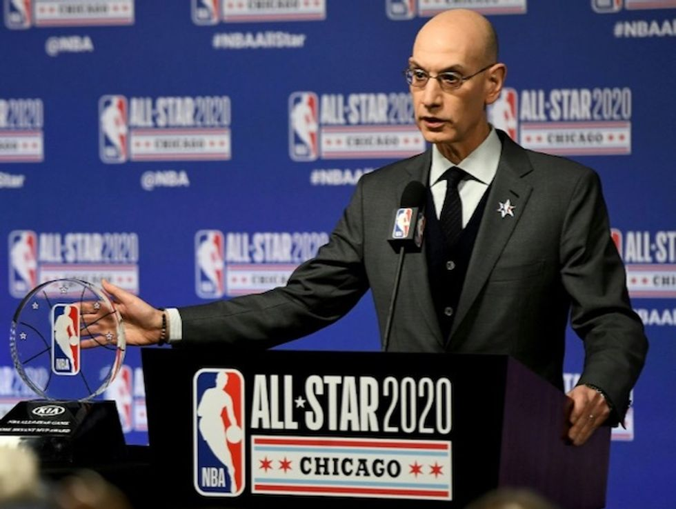 NBA chief defends league over virus tests for 'wealthy'