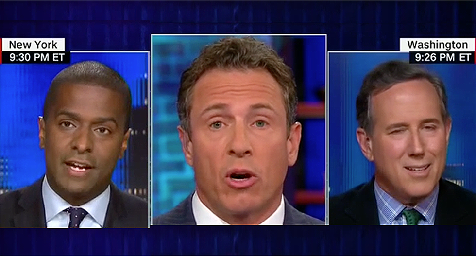 CNN panel goes off the rails when Rick Santorum tries to go after Chris Cuomo's brother: 'You always lower yourself'