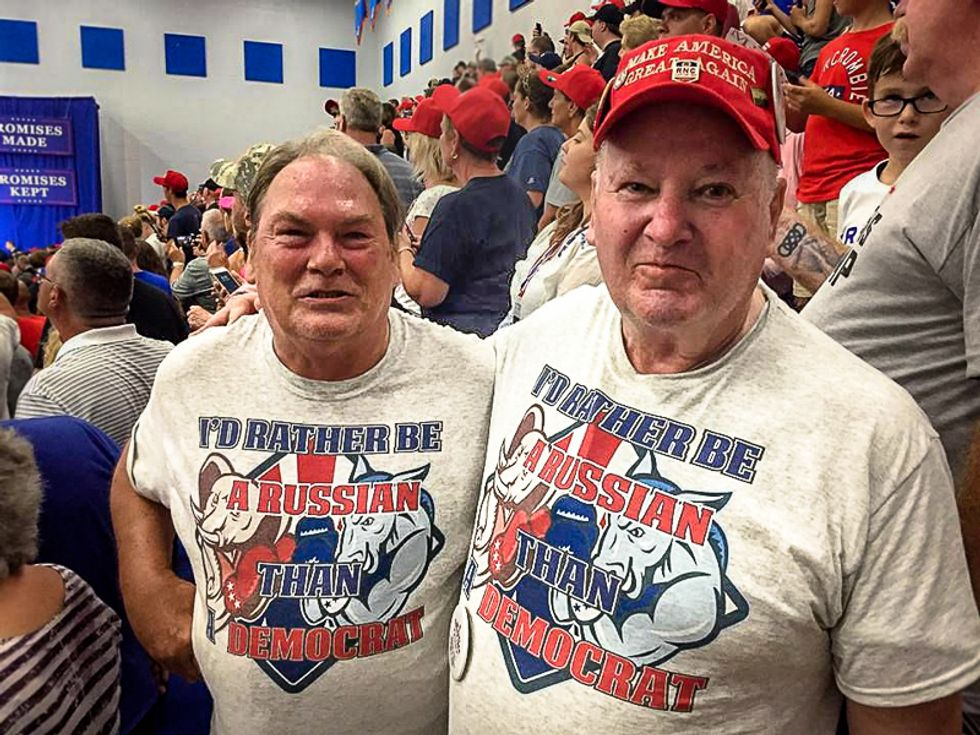 KKK invites Trump supporters to speak after 'I'd Rather Be Russian Than Democrat' shirts go viral