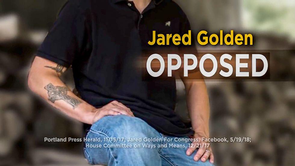 Republican super PAC attacks Dem candidate for having tattoo representing his Marine unit