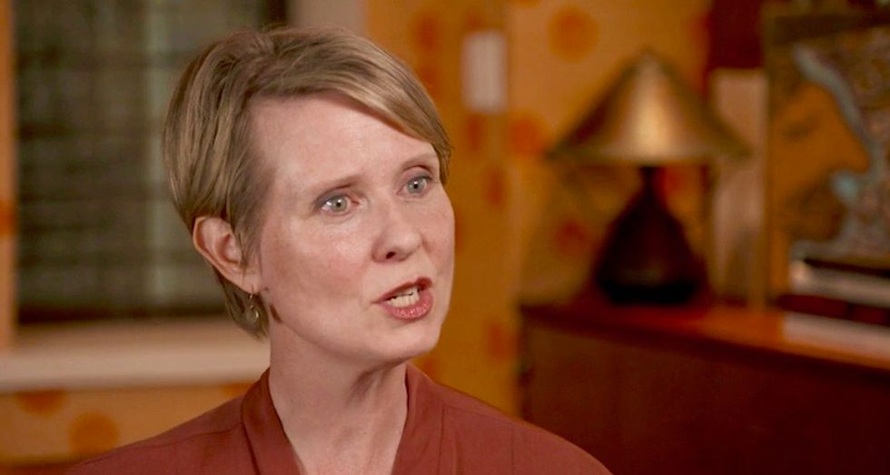 Cynthia Nixon lashes out at Andrew Cuomo over 'sexist' temperature of debate venue