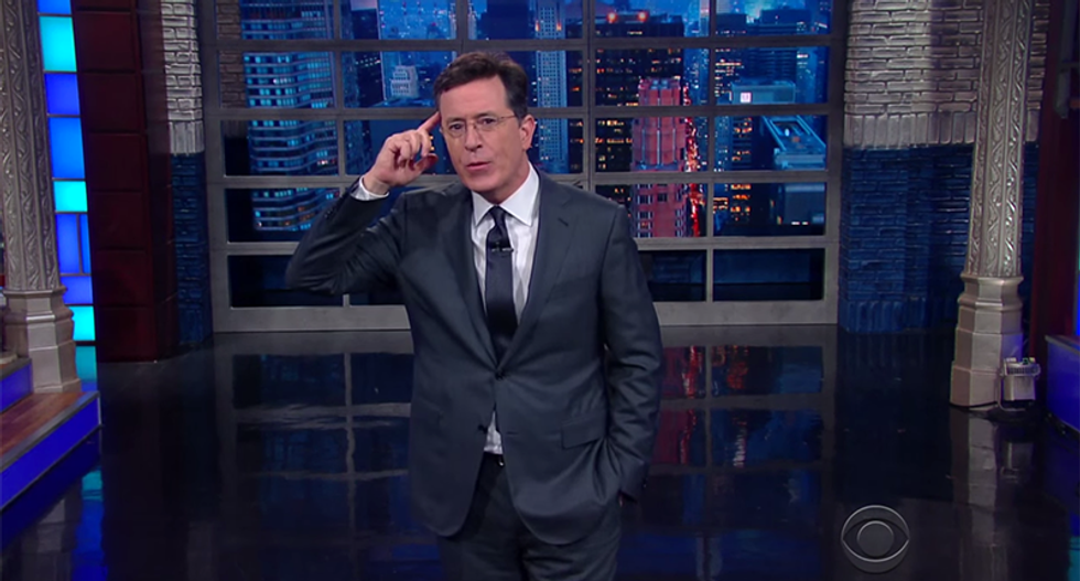 Stephen Colbert uncovers the surprising truth about Trump's teleprompter