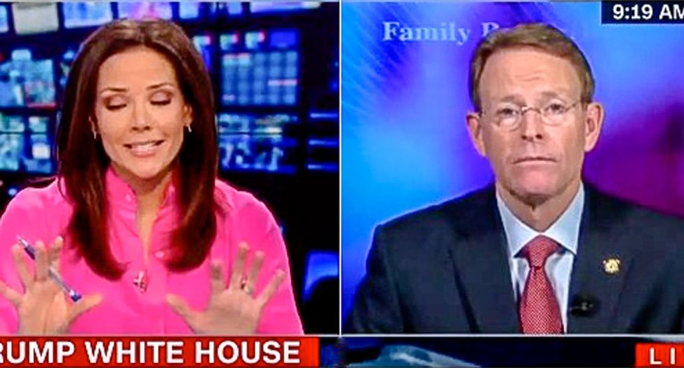 'There is not an equivalence': CNN host shuts down Tony Perkins for spinning that 'violence is on the left'