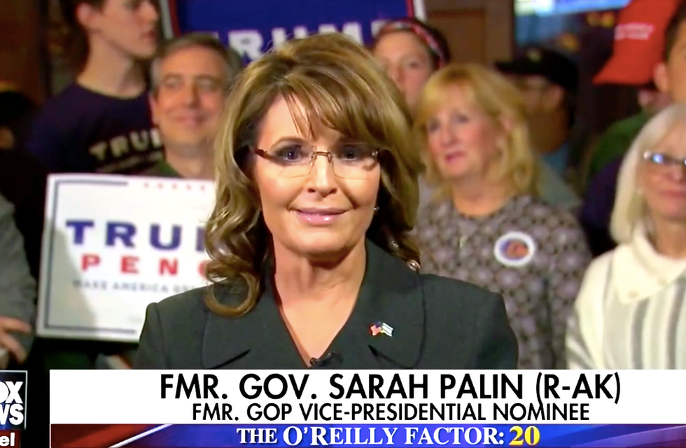 Sarah Palin tells Bill O'Reilly: Donald Trump will win on Tuesday because 'polls are for strippers'