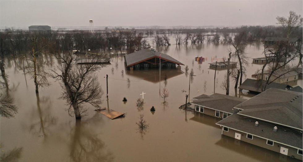 Mike Pence goes to Nebraska for Trump as US Midwest reels from historic floods