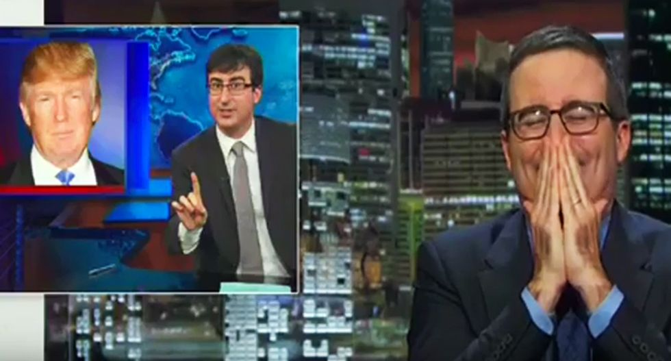 WATCH: John Oliver reveals how he's responsible for Trump's candidacy