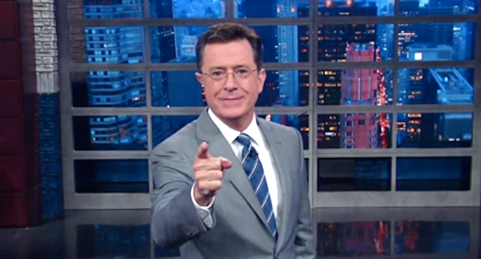 Stephen Colbert wonders if a white supremacist will pick Trump's VP 'and he'll just retweet it'