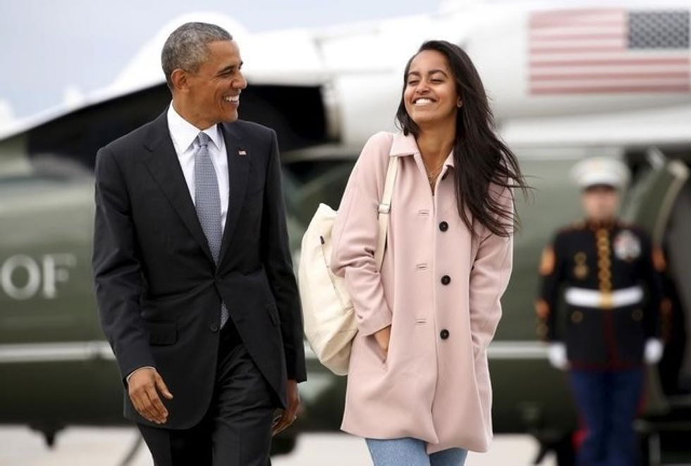 """Barack Obama revealed that he cried and was """"basically useless"""" while dropping Malia off at college"""
