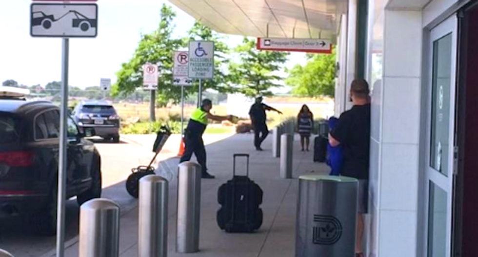 WATCH: Police shooting at Dallas Love Field Airport caught on video by terrified travelers