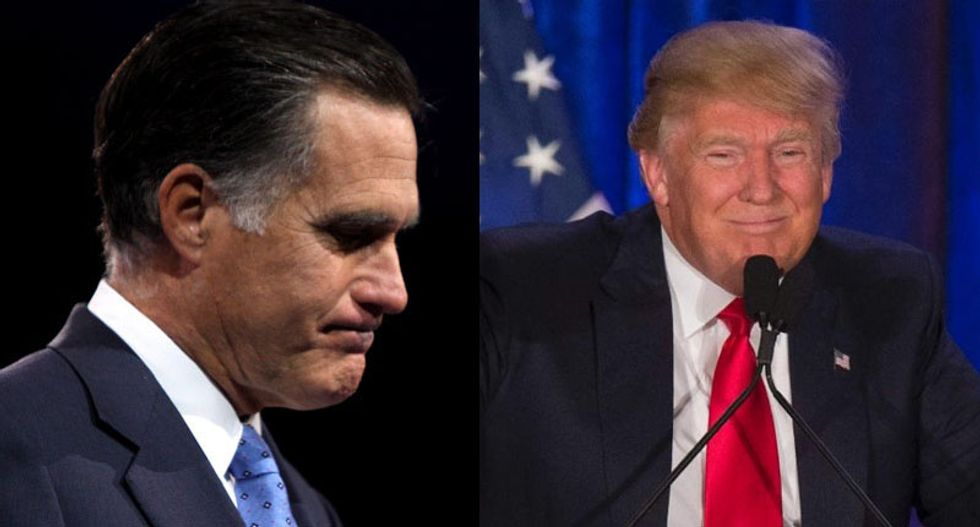 Trump rips Romney after 'trickle down bigotry' comments: He 'choked like a dog' against Obama