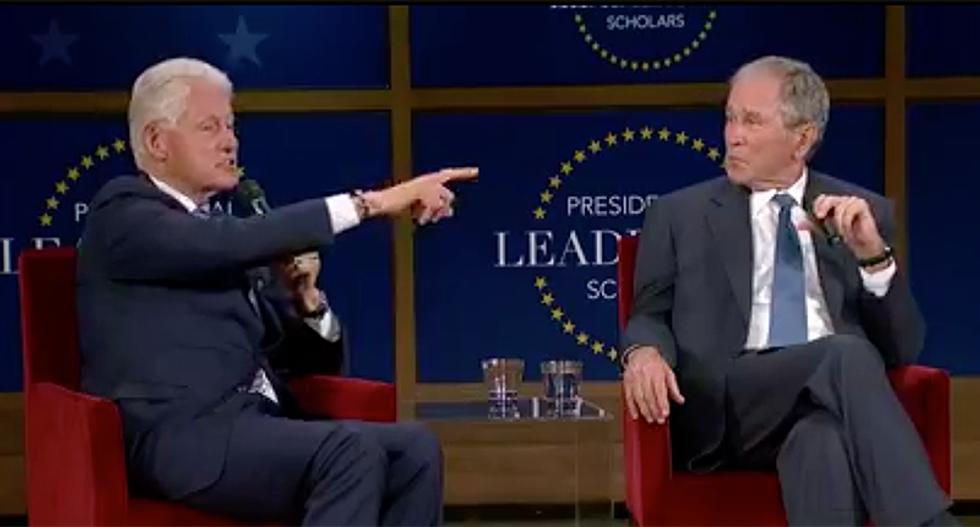 WATCH: Former Presidents Bill Clinton and George W. Bush speak at Presidential Leadership Scholars graduation
