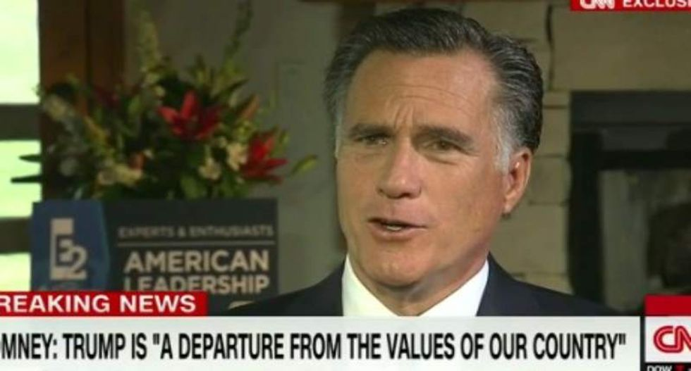 Mitt Romney rips Trump's 'trickle down racism, trickle down bigotry, trickle down misogyny'