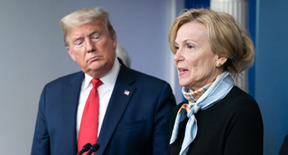 Trump interrupts Dr Birx to question whether his administration is giving out accurate information