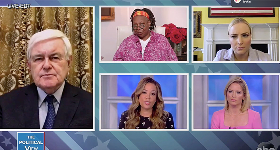 The View hammers Gingrich for agreeing with GOP claim nurses will abandon work to get unemployment checks