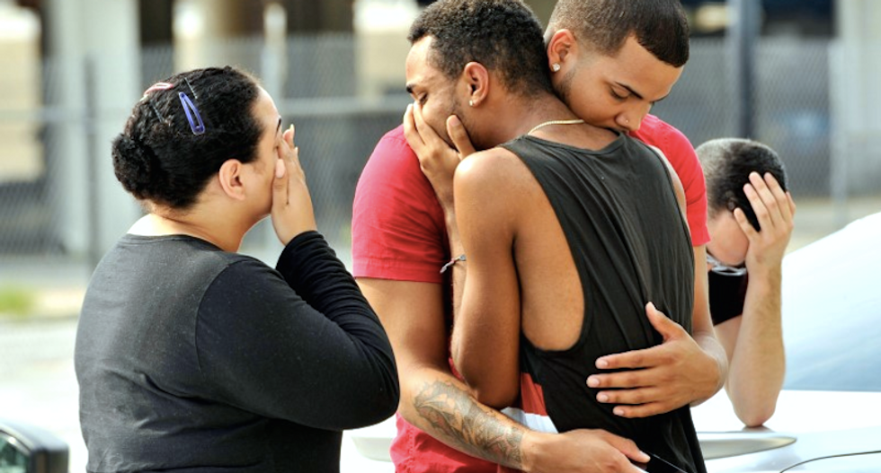 Families and friends wait anxiously for news after Orlando nightclub massacre