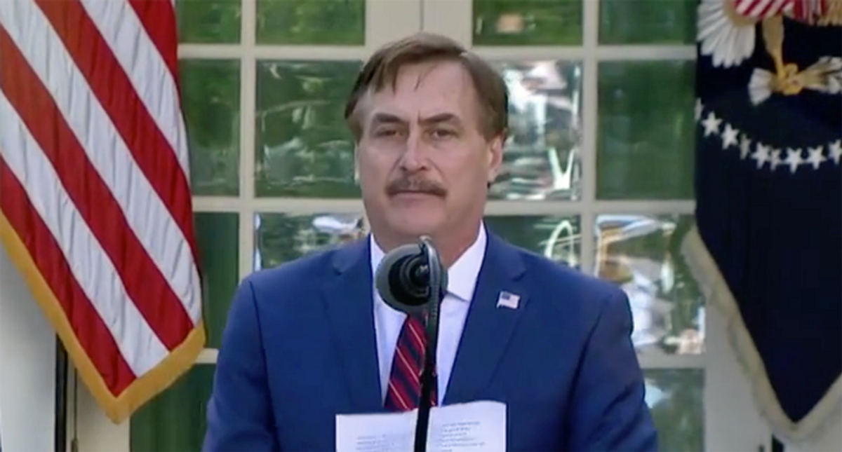 Mike Lindell says Elvis meeting with Nixon was a 'miracle' from Jesus — then begs to be sued by Dominion