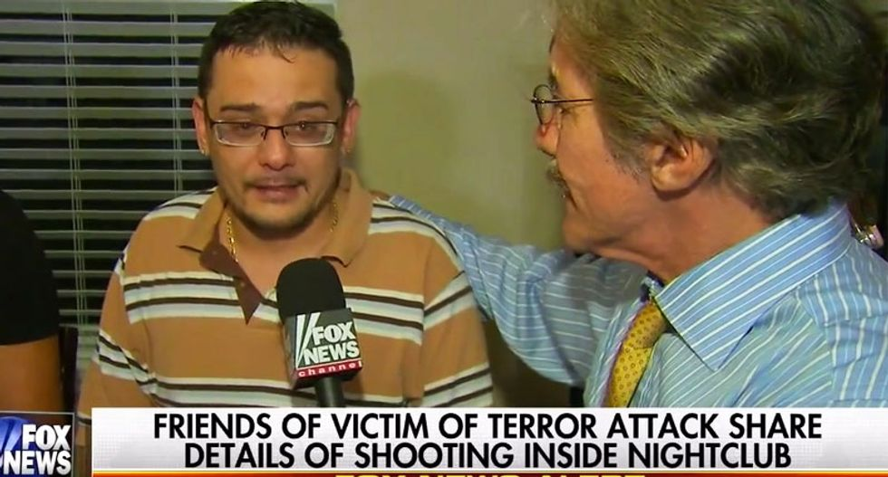Geraldo grotesquely exploits Orlando victim's family while cameraman records their tearful grief
