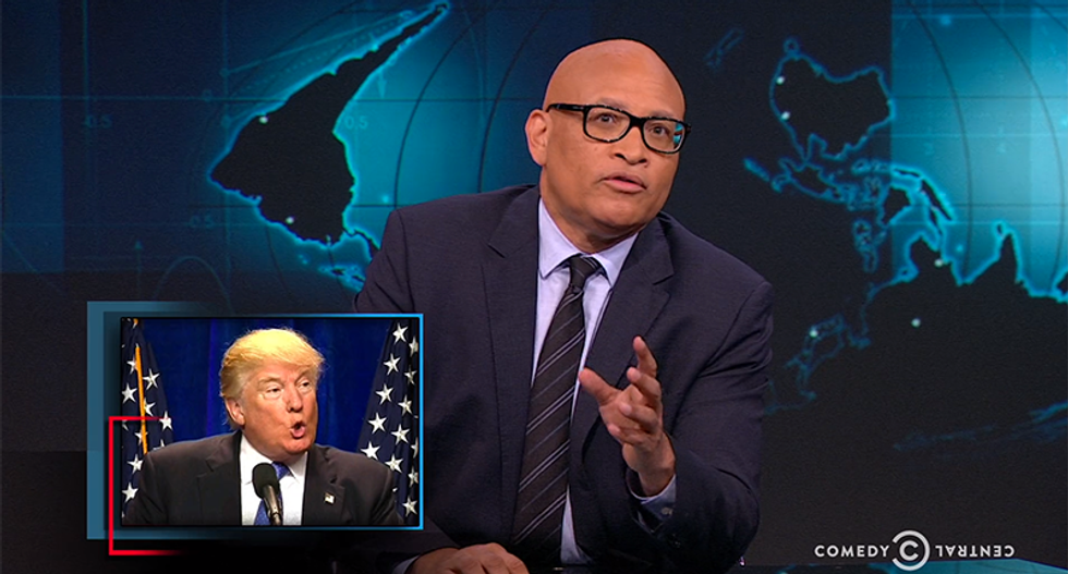 Larry Wilmore slams Trump for post-Orlando tweet: 'Who brags about this?!'