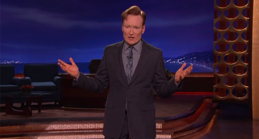 Conan calls for ban on military weapons: 'They have no place in civilian life'