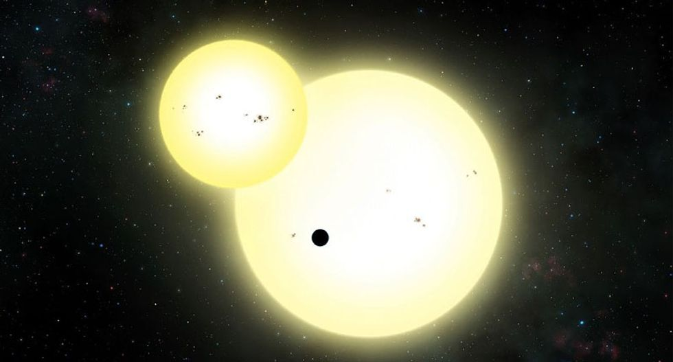 Scientists discover giant 'potentially habitable' new planet orbiting two suns
