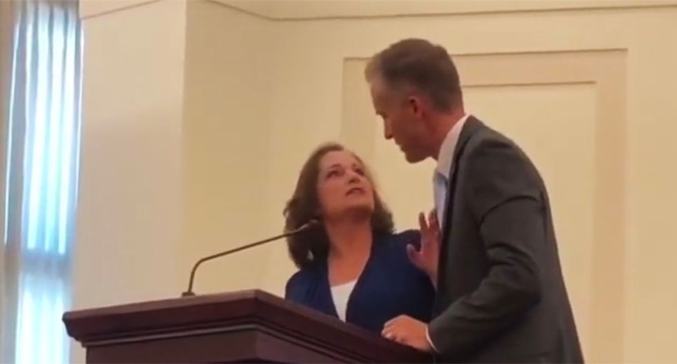 WATCH: Mormon rape victim calls out her alleged assailant in his own church