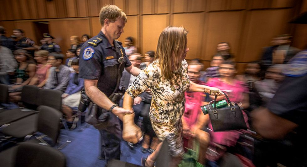 US Capitol Police arrest 22 Kavanaugh protesters for 'disorderly conduct' in first hour of Senate hearing