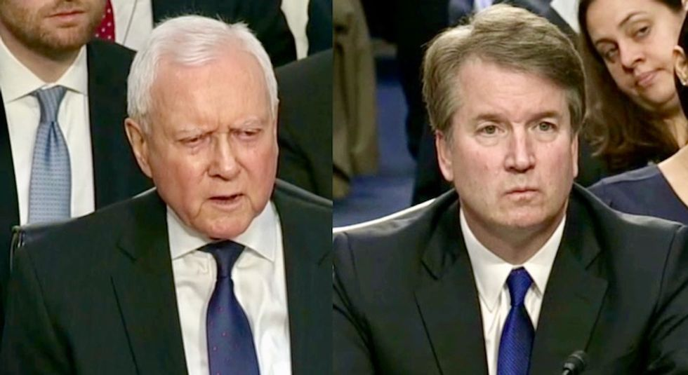 Watch: Republican Orrin Hatch loses it and yells at 'loudmouth' observers during Kavanaugh hearing
