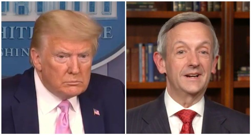 Trump uses coronavirus briefing to tout pastor who said 9/11 attack was God punishing America