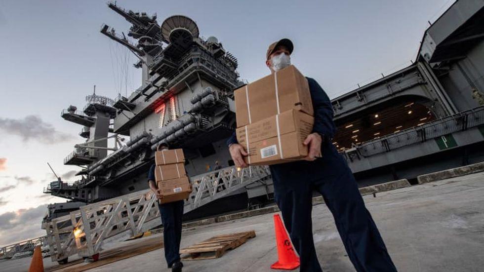 550 sailors aboard USS Theodore Roosevelt have tested positive for coronavirus