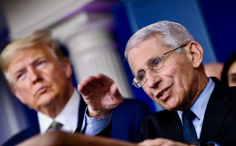 Trump attacks Dr. Fauci — and pushes idea of selling Hydroxychloroquine without a prescription