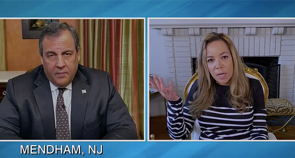 Chris Christie snaps at The View's Sunny Hostin for asking why Trump was golfing in February when America needed help