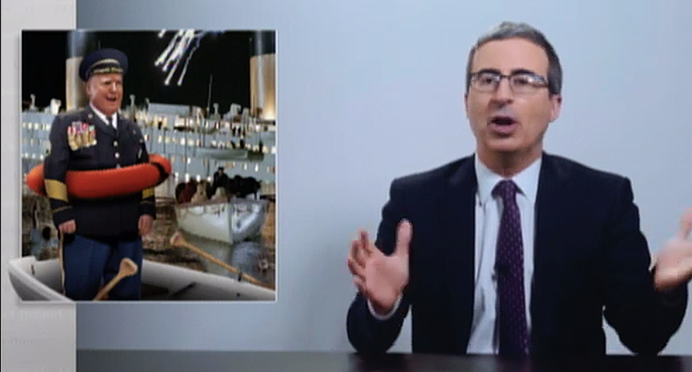 John Oliver: If Trump was captain of the Titanic, he would be claiming 'these lifeboats have become so popular'