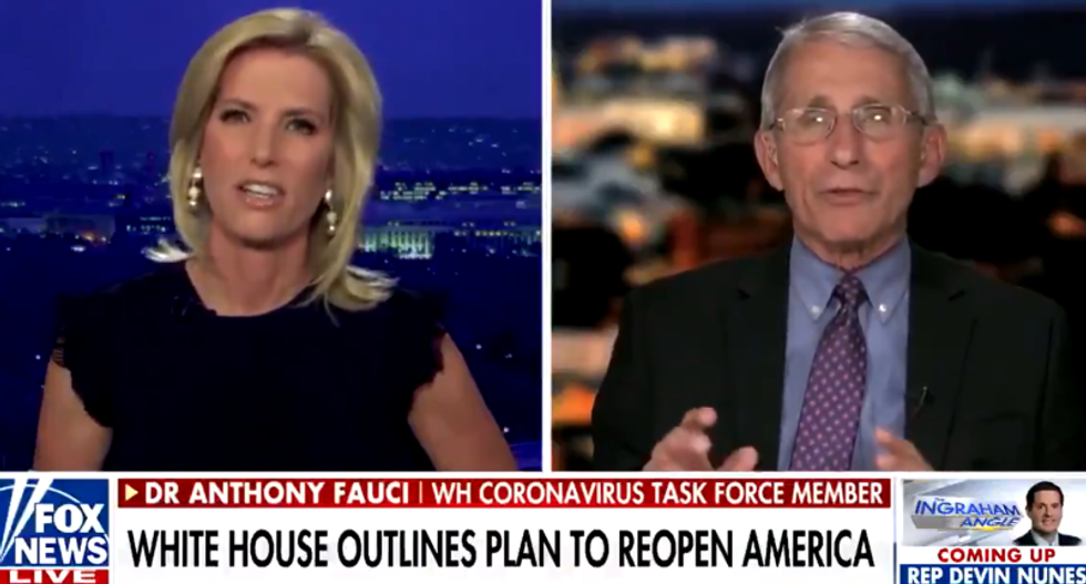 Anthony Fauci shuts down Laura Ingraham when she complains we didn't have lockdowns over AIDS