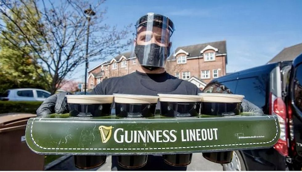 Dial-a-pint delivers fresh Guinness in COVID-19 lockdown