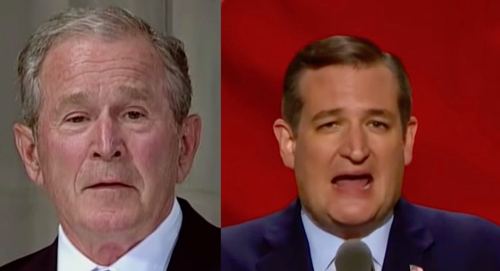 George W. Bush is raising money for embattled Texas Republicans -- but not Ted Cruz