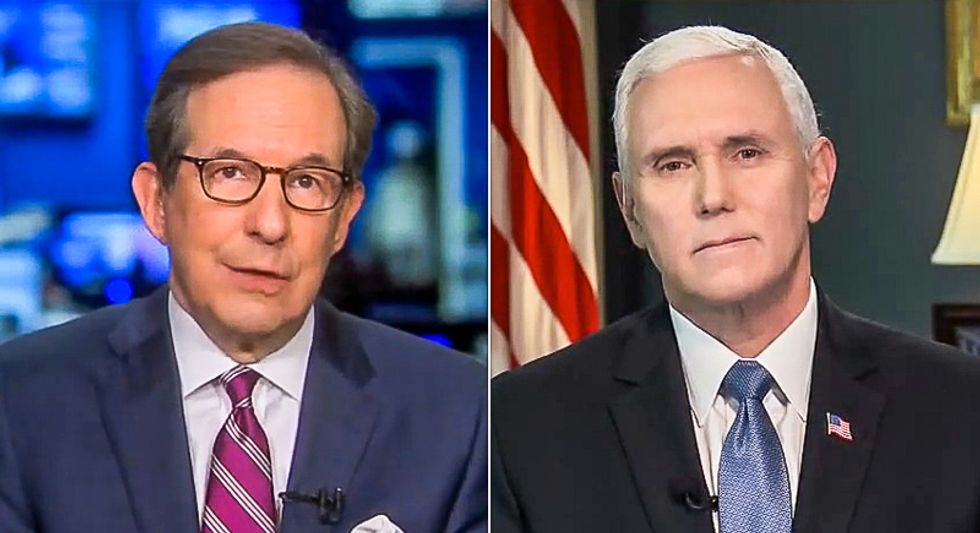 Chris Wallace spanks Mike Pence with Trump's tweets 'fomenting domestic rebellion' during a pandemic