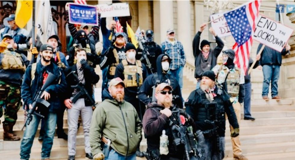 Right-wingers launch anti-lockdown movement despite CDC warning of 'significant risk'